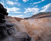 the Hukou Waterfall,the Yellow River,China