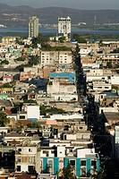 MEXICO-Sinaloa State-Mazatlan: Mazatlan View from Cerro de la Neveria Hill / Late Afternoon
