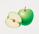Illustration, apples
