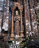 The ruins of a My Son Sanctuary Near Hui Anh Vietnam World Heritage Statue Sculpture