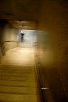 Blurred staircase, Copenhagen, Denmark.