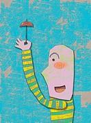 Illustration, Umbrella and Person