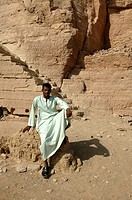 Guard in the tombs of Nobles opposite Aswan