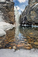 Cline River Canyon in winter _ Bighorn Wildlands _ Kootenay Plains Alberta, Canada.