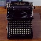Close up of a typewriter