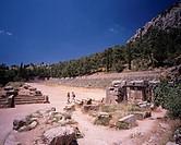 Ancient stadium The ruins of Delphoi World Heritage Delphoi Greece
