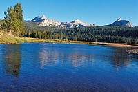 Tuolumne River and Cathedral Peak.Yosemite National Park, California.
