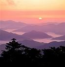 Sunrise,Mt  Taebaeksan Provincial Park,Gangwon,Korea