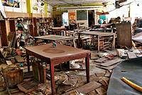 Beineville Elementary School´s destroyed library in New Orleans after Hurricane Katrina.