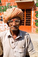 Portrait of an older Hindu man, Jodhpur, Rajasthan, India.