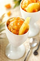 Pineapple ice cream with pineapple toffee (thumbnail)