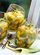 peach salad with basil