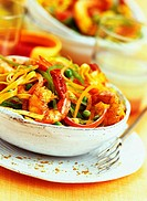 tagliatelle with prawn madras