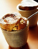coffee soufflé with macaroons