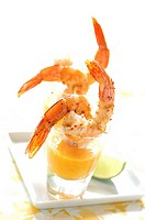 Prawns in mango emulsion (thumbnail)