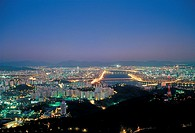 Night View Of Seoul,Korea