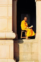 Buddhist Monks Reading A Book,India