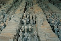 Tomb of First Emperor Qinshihuang Terracotta warriors,Xin,Shaanxi,China
