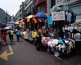 Namdaemun market City View Seoul South Korea Building Store Market People