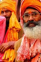 Sadhu (Hindu holy man). Varanasi (Benares). India