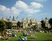Royal pavilion Brighton United Kingdom Deck chair People Square Palace