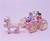 Honeymoon Pink Wedding Carriage Craft