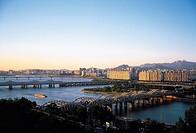 Hangangdaegyo Bridge,Hangang River,Seoul,Korea