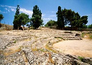 The ruins of the Roman theatre. Alcudia. Mallorca. Balearic Islands. Spain.