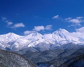 Blue sky Snow_covered mountain White Mountain range Winter Shiretoko mountain range Shari Hokkaido Japan World Heritage
