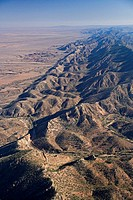 Brachina Gorge, Heyson Range, Flinders Ranges National Park, South Australia, Australia - aerial