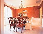 Interior Of Dining Room,Atlanta,Georgia,USA