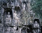 Lingyin Temple, Flying peak, Budda, Hangzhou, Zhejiang, China