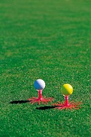 Golf Ball On Golf Tee