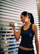 Woman with Dumbbell,Korean