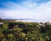 Kota Kinabalu Resort Hotel Borneo Malaysia Blue sky Tree Green Sea