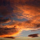 Orange clouds in sky with sunset (thumbnail)