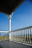 Porch facing beach on Bald Head Island, North Carolina