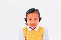 Korean Girl Wearing Headset