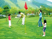 Family in the Golf Course, Korea