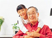 Girl with Grandfather, Korea
