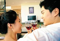 Couple Enjoying Wine, Korea