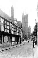 Worcester, St Peter's Street and Church 1906