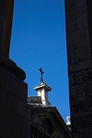 Cross on steeple in Lisbon, Portugal