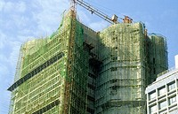 Bamboo scaffolding and construction