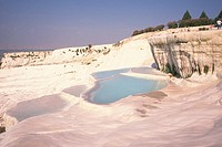 Hot spring of Pamukkale, Turkey, High Angle View
