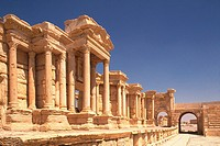The site of Palmyra, Syria, Low Angle View