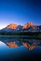 Mount Kidd reflected in Wedge Pond, Kananaskis Country, Alberta, Canada