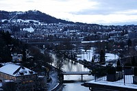 City View in Dusk, Bern, Switzerland