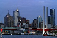 The water front of Melbourne featuring the new Bolty Bridge