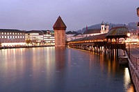 Stunning Night Scene of KapellBrucke
